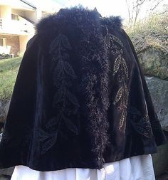 1895 Original Vintage Victorian Ostrich Embroidered by LitttleBits, $450.00