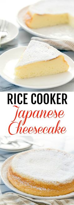 Rice Cooker Japanese Cheesecake - Rice Cooker - Ideas of Rice Cooker - Dessert Time Rice Cooker Cake, Rice Cooker Recipes, Rice Recipes, Cooking Recipes, Rice Cooker Cheesecake, Rice Cooker Rice Pudding, Best Rice Cooker, Aroma Rice Cooker, Sweets Recipes