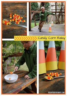 halloween games for kids candy corn relay COLLAGE NEW