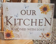 Our kitchen, seasoned with love, cook, family, chef - HANDMADE plaque