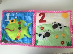 Learning numbers will become more interesting with this quiet book! Count from one to ten with your baby