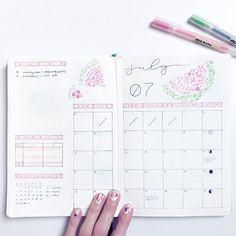 """1,792 Likes, 19 Comments - Roz • Bullet Journal (@rozmakesplans) on Instagram: """"I love this layout so it hasn't changed, but yay for more watermelons! ••• #bulletjournal #bujo…"""""""