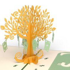 Money Tree birthday pop up card - thumbnail