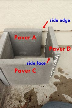 DIY Modern Minimal Concrete Planter Boxes DIY Concrete Planters-paver a and b Concrete Planter Boxes, Diy Planter Box, Diy Planters, Succulent Planters, Succulents Garden, Diy Garden Projects, Diy Furniture Projects, Outdoor Projects, Cement Pavers
