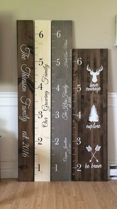 In The Woods...kid's wood growth rulers and custom wood signs...facebook.com/inthewoods.ca