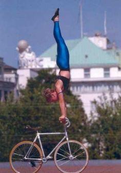 Handstand on wheels