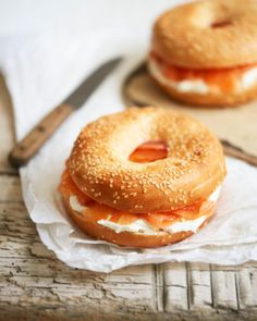 """14 Likes, 1 Comments - Polly Webster (@pollywebsterphotography) on Instagram: """"Smoked Salmon & Cream Cheese Bagel #food #sandwich #sesamebagel #bagel #newyorkbagel #creamcheese…"""""""
