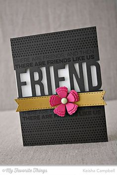 Friends like Us, Friend Die-namics, Layered Rose Die-namics - Keisha Campbell #mftstamps