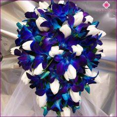 Blå brudebuket - hvordan du vælger og kombinere bryllup blomster, foto