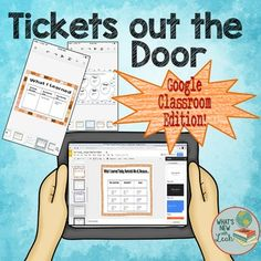 This Tickets Out the Door exit ticket package is an interactive Google slides resource for you to share with your students in Google Classroom, or you can print it, if youd like. Use these 20 tickets as formative assessment at the end of any class. Students will complete one and submit it to you in Google Classroom.