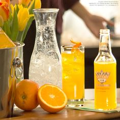 ORANGE BLOSSOM: Spring is in full bloom and it's time to take the party outdoors.  Just mix Smirnoff ICE Screwdriver, Club Soda and an Orange
