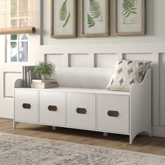 Get a white storage bench with drawers stylish options) Shoe Cubby Bench, White Storage Bench, Upholstered Storage Bench, Storage Benches, Shoe Storage Bench Entryway, Foyer Bench, Shoe Storage With Doors, Bedroom Bench With Storage, Stairway Storage