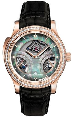 Jaeger-LeCoultre Master Minute Repeater Q1642433 $192,800 chronograph pink gold case with leather bracelet and manual winding