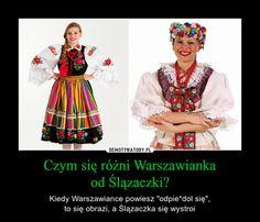 """Czym się różni Warszawiankaod Ślązaczki? – Kiedy Warszawiance powiesz """"odpie*dol się"""",to się obrazi, a Ślązaczka się wystroi Make Em Laugh, Man Humor, Best Memes, Lol, Funny Pictures, Geek Stuff, Poland, Fashion, Cow"""