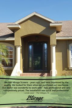 People love their Mirage Screen Doors with good reason! A product built to create easy comfort in your home. Love Mirage, Retractable Screen Door, Screen Doors, Gazebo, Outdoor Structures, Mansions, Create, House Styles, World
