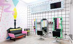 Una peluquería inconformista igual que su público joven » Blog del Diseño