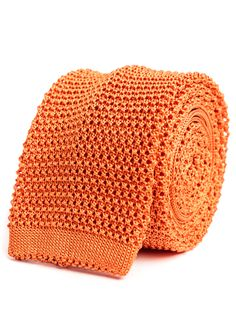 Rossi Orange Knitted Tie