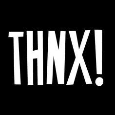 Sticker THNX!