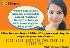 Post your gig for free. Buyers are waiting to buy it from you! #gicree