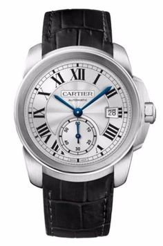Calibre de Cartier Automatic Stainless Steel & Alligator Strap Watch