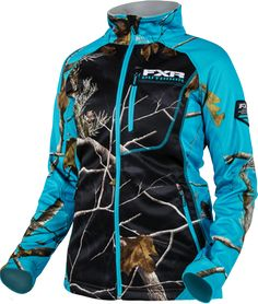 FXR Women's ELEVATION FLEECE ZIP-UP - CAMO (2016) - Realtree Xtra-Fuchsia