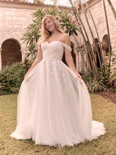 Flora Criss-Cross Ruched Princess Wedding Gown   Rebecca Ingram Affordable Wedding Dresses, Best Wedding Dresses, Bridal Dresses, Wedding Gowns, Bridesmaid Dresses, Lace Weddings, Wedding Venues, Lillian West, Maggie Sottero