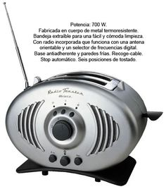 Tostador con Radio 0118 Ariete - 29,99€ — Comprar Cocina Jardinitis