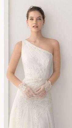 Barbara Palvin, Second Wedding Dresses, Second Weddings, One Shoulder Wedding Dress, Blue Weddings, Romantic Weddings, Rosa Clara Bridal, Bridal Gowns, Wedding Gowns