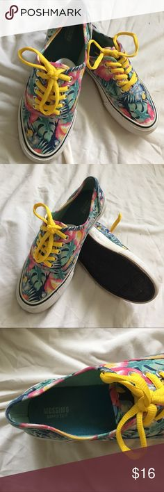 Mossimo Floral Print Sneakers Mossimo Supply Co. Hawaiian inspired Floral Print Lace Up Sneakers. GUC. Great Accessory for Adding Color to your Summer Look! Mossimo Supply Co. Shoes Sneakers