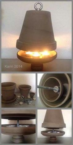Bildergebnis für calefaccion con macetas y velas Emergency Preparation, Survival Prepping, Survival Skills, Clay Pot Crafts, Diy And Crafts, Candle Heater, Diy Heater, Diy Lampe, Terracotta Pots