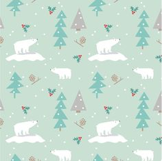 Still one of my favorite holiday patterns. #polarbears