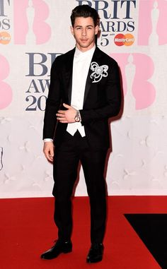That's some boutonniere Nick Jonas!