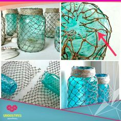 Mason jars marinos