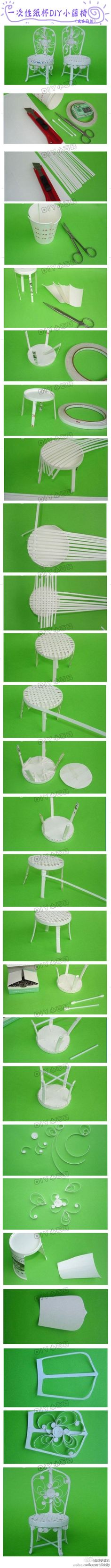 Dollhouse ice cream chairs - tutorial