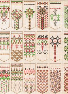 tautas cimdu raksti узоры для варежек , узоры для вязания, узоры для вышивания, народные орнаменты