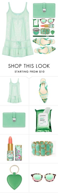 """Street Style"" by simona-altobelli ❤ liked on Polyvore featuring Melissa Odabash, ANNA BAIGUERA, Croft & Barrow, Sephora Collection, tarte, ULTA, Forever 21, Smythson, Taylor Morris and jane"