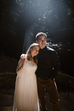 Sunrise Elopement at Ash Cave Waterfall in Hocking HIlls State Park, Ohio Elopement Inspiration, Wedding Photo Inspiration, Waterfall Wedding, State Parks, Love Story, Ash, Ohio, Destination Wedding, Sunrise