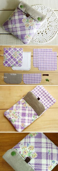 Mini fabric wallet sewing. Tutorial DIY in Pictures.   http://www.handmadiya.com/2015/11/mini-wallet-tutorial.html