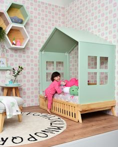 Rugs for kids room - kids room ideas. rugs for kids room. Baby Bedroom, Girls Bedroom, Kids Room Design, House Beds, Little Girl Rooms, Kid Spaces, Kid Beds, Baby Decor, Kids Rooms