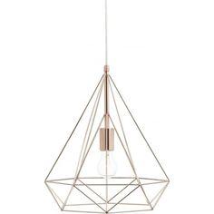 Dar Sword Copper Ceiling Pendant Light from Lights 4 Living Cage Pendant Light, Lantern Pendant, Pendant Lighting, Geometric Pendant Light, Copper Lighting, Geometric Form, Wire Pendant, Copper Ceiling, Ceiling Pendant