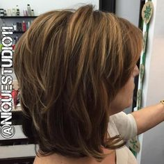 medium layered hairstyle...hmm really like this one if it'd lay this flat