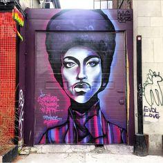 "Richmond Ave. "" It sometimes snows in April..."" @javidjah @harlemrestaurant #streetart #torontoart #tv_streetart #streetarttoronto #wallart #muralsdaily #graffiti #torontostreetart #street #igerstoronto #nofilter #mosaic #torontophotography #mural #alleyart #graffititoronto #wallart #graffitiporn #urbanart #rsa_graffiti #grafite #streetarteverywhere #wish #streetsoftoronto #ig_graffiti #publicart #murals #the6ix #harlemunderground #purplerain #prince by streetviewto"