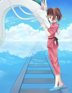 Anime picture spirited away studio ghibli haku (spirited away) ogino chihiro haku (dragon) hitsukuya 394644 en Anime Plus, Anime W, I Love Anime, Hayao Miyazaki, Totoro, Studio Ghibli Art, Studio Ghibli Movies, Anime Quotes Tumblr, Anime Body