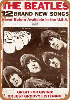 An original 1965 Capitol Records promotional poster, issued to announce the release of the Beatles' classic Rubber Soul album. Rubber Soul was issued on Dece Beatles Poster, Beatles Band, Les Beatles, Room Posters, Band Posters, Beatles Rubber Soul, Rubber Soul Album, John Lennon Paul Mccartney, Vintage Music Posters