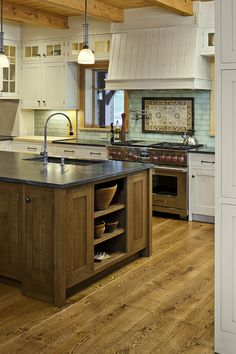 Our custom White Oak hardwood wide plank flooring is made in the USA and ships nationwide direct from our mill. We offer custom plank sizes, unfinished or prefinished. Sawmill direct wide plank floors since White Oak Kitchen, New Kitchen, Kitchen Decor, Kitchen Ideas, Natural Kitchen, Kitchen Layout, Kitchen Design, Wood Floor Kitchen, Kitchen Flooring