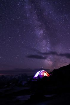 starry night. sahale glacier camp, north cascades national park, washington, pnw | camping + outdoors #adventure
