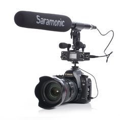 Saramonic CaMixer Microphone Kit with Dual Stereo Condenser Mics, Digital Mixer & XLR/Mini-XLR Input with +48V Phantom Power Preamp - For DSLR Cameras and Camcorders with SR-TM1 shotgun microphone for camera video making