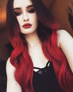 Red Hair Color for Black Hair