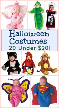 Over 20 baby and toddler Halloween costumes for under $20 shipped! #savings #creditunion #halloween #costumes
