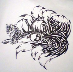 Kitsune for tattoo contest by ~nightmare6664 on deviantART